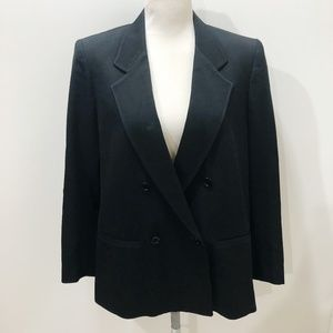 HARVE BENARD 12 Blazer Black Wool Double Breasted